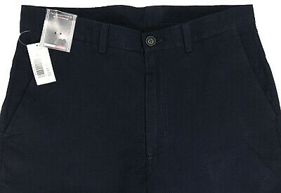 Men's ROUNDTREE & YORKE Lightweight Blue Seersucker Pants 32x30 NWT NEW Nice!