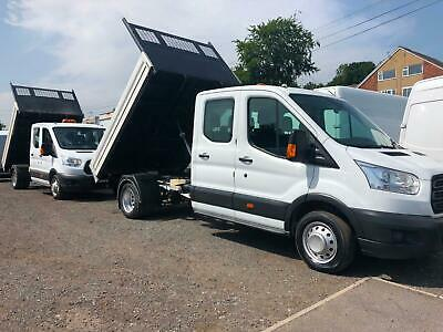 15-17 Ford Transit & Mercedes Sprinter Lwb Double / Crew Cab Aluminium Tippers