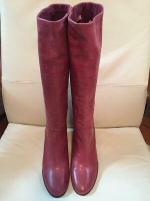01a118f984c MARC FISHER WIDE Calf Leather Tall Shaft Boots Secrit Black 11M NWOT ...