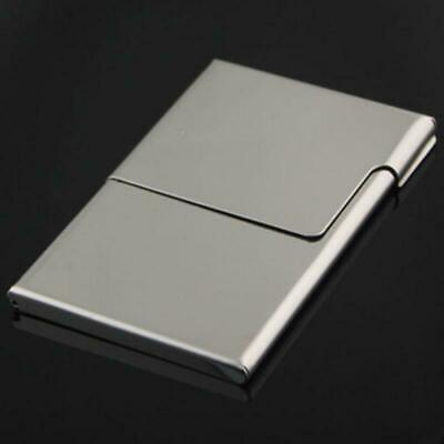 Stainless Steel Business ID Credit Card Holder Wallet Metal Box Case Pocket B0C2