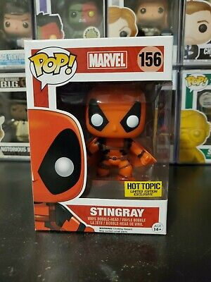 Funko Pop! Marvel Deadpool Stingray #156 Hot Topic Exclusive WITH PROTECTOR!