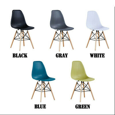 2X/4X Dinning chairs DSW Plastic Living Room Lounge Office Computer Desk Chair