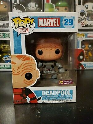 Funko Pop! Marvel Deadpool #29 Unmasked X-Force PX Previews WITH PROTECTOR!