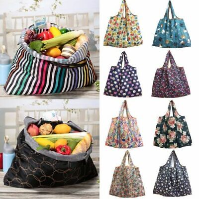 Large Waterproof Folding Shopping Bags Pouch Case Reusable Eco Hangable Bags