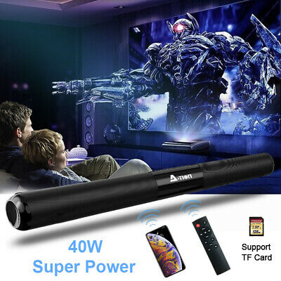 Wireless Soundbar Stereo 40W Speaker Home Theater Subwoofer Remote Control Bass