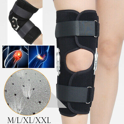 Aluminium Knee Double-Hinged Support Medical Breathable Open Patella Brace Strap