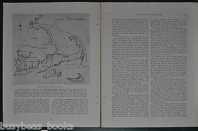 1914  THE CAPE COD CANAL magazine article, history, photos