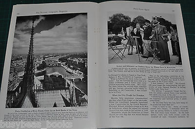 1946 magazine article Liberated PARIS France, post WWII, natives, daily life