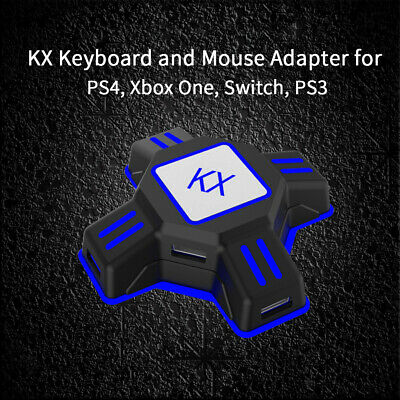 KX Gaming Keyboard And Mouse Converter PS3 PS4 Xbox One Switch APEX New Adapter