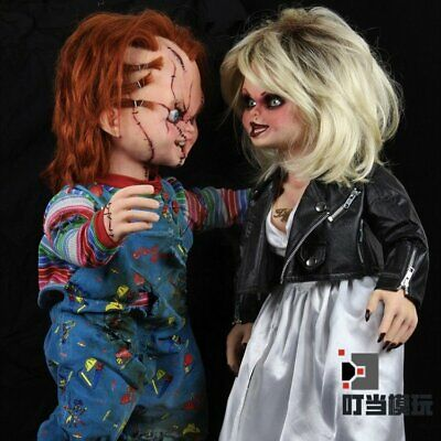 NECA Life-Size Bride of Chucky & Tiffany Prop Replica Doll Action Figure