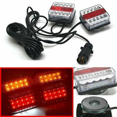 Trailer Rear Light Set Light Board Towing Lamps Extension Cable Socket Magnetic
