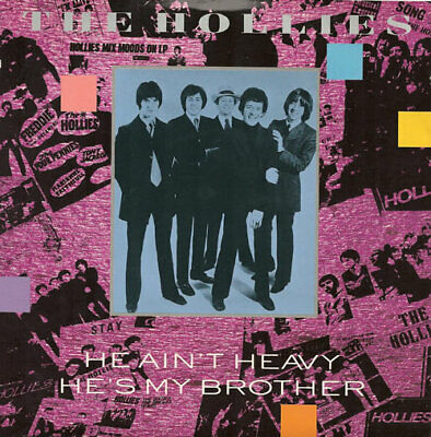"Hollies 7"" vinyl single record He Ain't Heavy He's My Brother UK EM74 EMI"