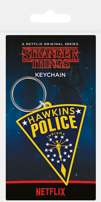 Stranger Things Hawkins Police Rubber Keyring New Official Merchandise