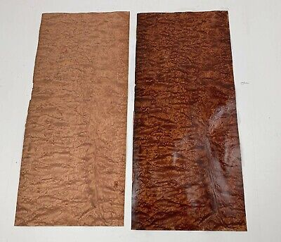 "Beautiful Quilted Bubinga Veneer Wood 23"" X 10"" x 1/32 AAAA Grade FREE SHIP"