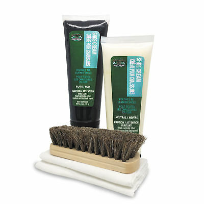 Moneysworth & Best Premium Leather Shine Kit with Shoe Cream Brush & Cloths