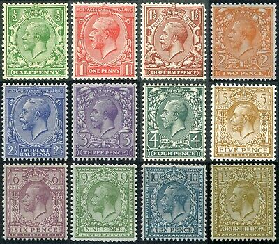 1924 Block Cypher Sg 418-429 Lightly Mounted Mint Single Stamps