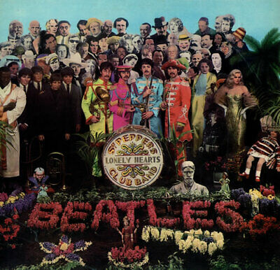 Beatles Sgt. Pepper's - 2nd - VG vinyl LP album record UK PMC7027 PARLOPHONE