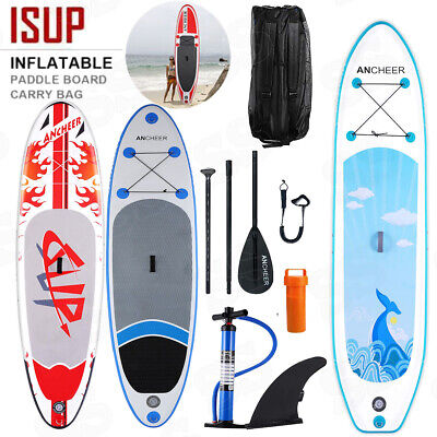 10' AQUA MARINA Inflatable Stand Up Paddle Board with Paddle and