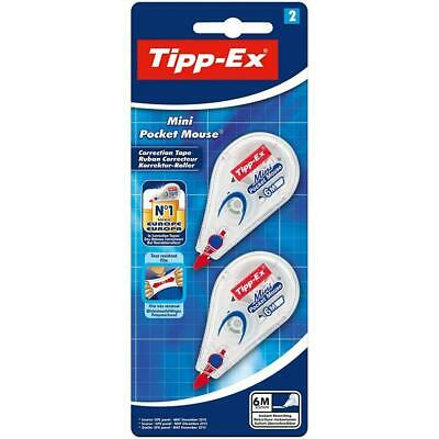 Tipp-Ex Mini Pocket Mouse Correction Tapes – 6 m, Pack of 2 2
