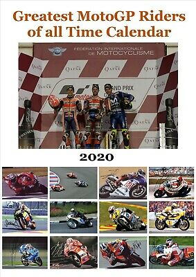 Greatest MotoGP Riders of all Time Calendar 2020 A4