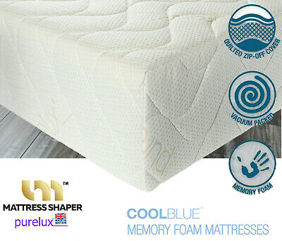 Cool Blue  Memory Foam Mattress Purelux SuperQuilted cover