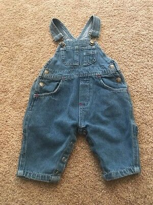 Little Miracles Infant Boys Blue Denim Carpender Overalls 6-9 Months