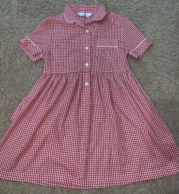 Vintage St Michaels From Marks & Spencer Girls Dress Sz 6 Classic Red Plaid