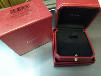 Authentic Cartier Ring Box With Outer Box Cojo4002
