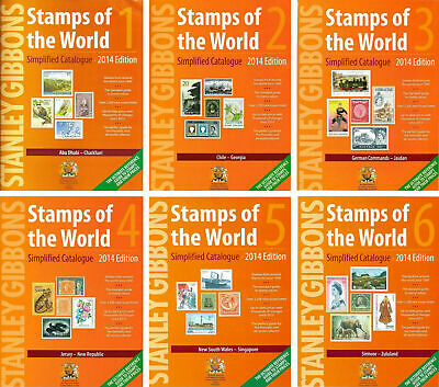 STANLEY GIBBONS stamps of the World Catalogue 2014 VOLUME 1-6