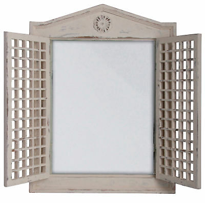 Mirror Wood Wall Window Folding Shutters Country House Antiques New