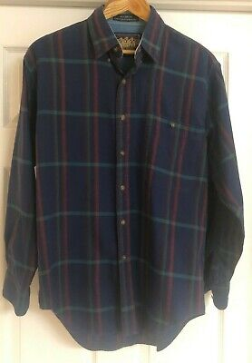 Vintage Chaps Ralph Lauren Mens Button Shirt Polo Boy Scout Tag Size M