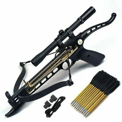 Cobra System  Pistol Tactical Crossbow, 80-Lbs (Scope with 39 Arrows W/ Strings)