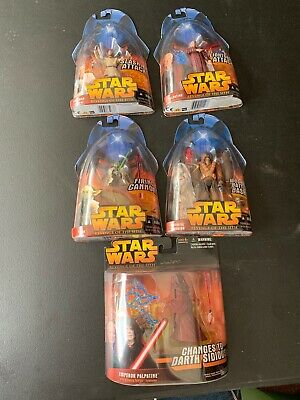 Star Wars Revenge of the Sith Action Figures NEW UNOPENED - Lot of 5 Hasbro 2005