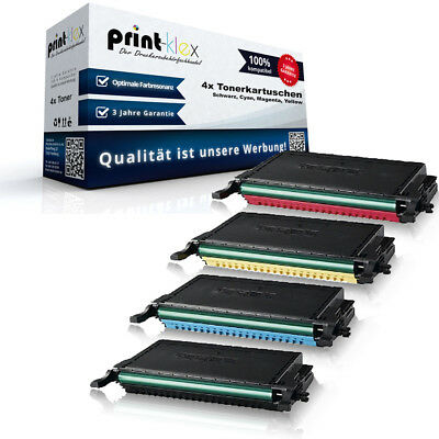 4x Toner Cartridges Compatible for Samsung CLP 610 660 Replacement - Printer