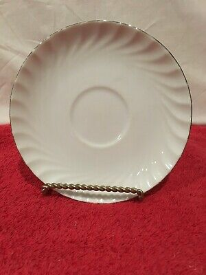 "Norleans China ESTATE Made in Japan  6"" Saucer Silver Edge Platinum"