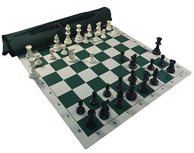 2XQ 2 lb Weight Chess Pieces Quiver Chess Set Combo Black Chess Bag /& Board