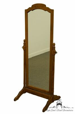 "ETHAN ALLEN Heirloom Nutmeg Maple 27x63"" Standing Floor Mirror 10-5060"