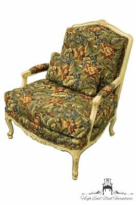 SHERRILL FURNITURE Louis XVI French Provincial Floral Upholstered Accent Berg...