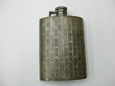 Vintage Sterling Silver Flask  Heavy And High Quality