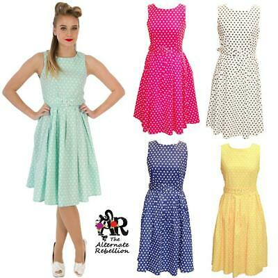 A Pois Swing Abito By Dolly & Dotty Annie 50's Vintage Rockabilly Retro