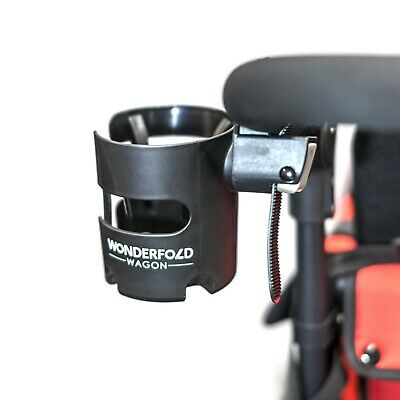 WonderFold Adjustable Universal Stroller Cup Holder with 360 Degrees Rotation