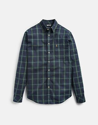 Joules Mens 207016 Long Sleeve Classic Fit Oxford Shirt in GREEN CHECK