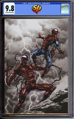 Absolute Carnage 1 Mico Suayan Slabbed Heroes Virgin Variant CGC 9.8  Fast Track