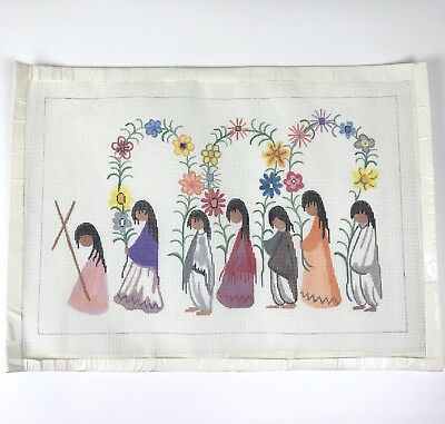 Sundance Designs DeGrazia The Arches & The Cross Handpainted Needlepoint Canvas