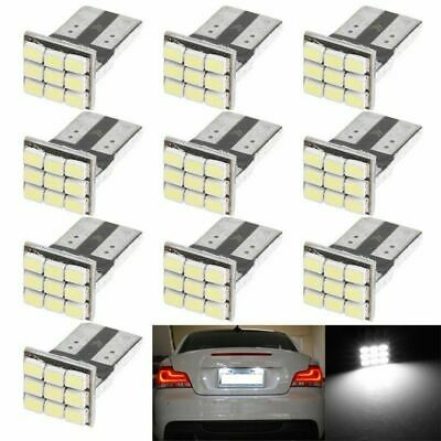 10x T10 501 W5W 9 SMD LED NUMBER PLATE BULBS CANBUS ERROR FREE XENON HID WHITE Y