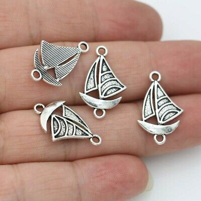 10//40//200pcs Antique Silver Beautiful boat hook Jewelry Charms Pendant 18x15mm