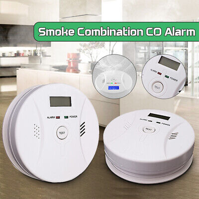 CO Carbon Monoxide Alarm And Smoke Combination Detector Fire Alarm Home Safty W