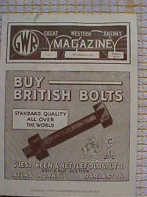 Gwr Great Western Railway Magazine Excerpts From 1892 1893 1894 1909 1922 & 1934