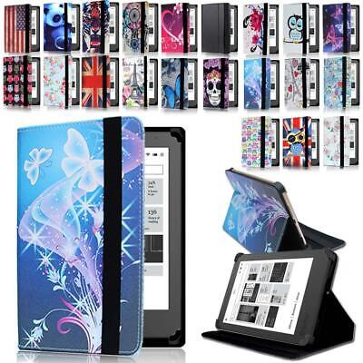 """Leather Stand Folio Cover Case For Various 6"""" 7"""" 10.1"""" Kobo eReader Tablet"""