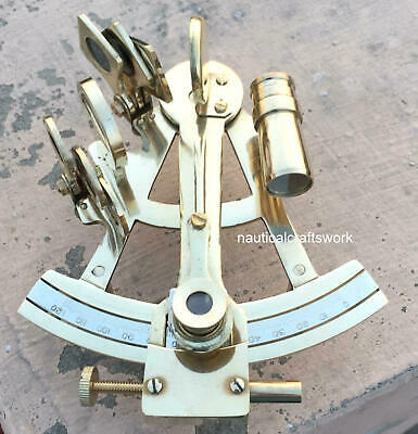 "Maritime  Astrolabe Model Sextant - Gift Solid Ship Brass Hand-Made 5"" Sextant"